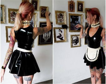 Latex roleplay maid full set