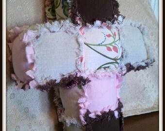 Stuffed Cross Pillow - Baby Rattle