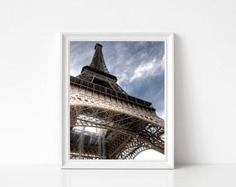 EIFFEL TOWER PARIS hdr France Photography French Art Wall Decor Paris Wall Art