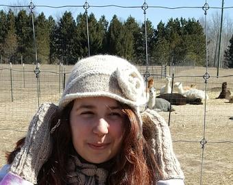 Alpaca Flapper Hat