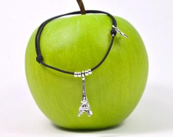 Cord Eiffel tower bracelet