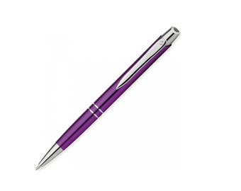 Ballpoint pen metal ballpoint pen with engraved gift purple