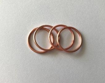 Copper Stacking Ring | 14 gauge