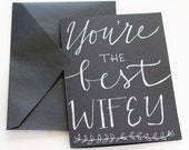 You're the Best Wifey Valentine's Day Card