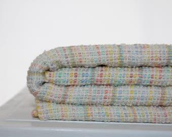 Rainbow Sherbet handwoven baby blanket