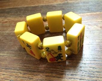Vintage Bakelite Mah Jong Bracelet