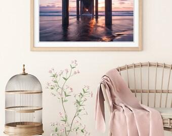 San Diego Pier Sunset Photo Print | San Diego Beach Wall Art | Nature and Landscape Photography | 5x7, 8x10, 12x18, 16x24, 20x30, 24x36
