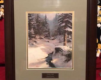 Thomas Kinkade 'Winter Light'  Library Edition Print