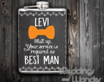 Suit Up Groomsman Proposal - Flask