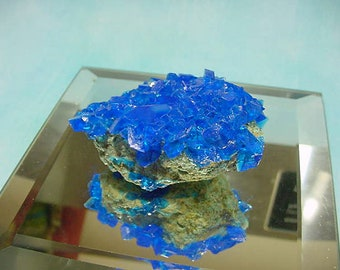 New Vibrant Rich Blue Chalcanthite Crystal Cluster from Poland #1