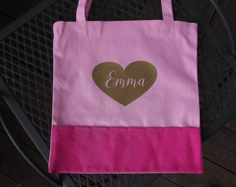 Little Girls Personalized Tote Bag