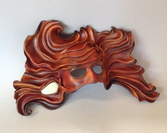 Leather mask Renaissance Venetian Style  Flow State Wall Art