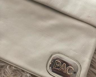 Vintage clutch, 1970/1980 clutch, pac handbag