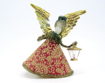 Vintage Koestel Wax Angel West German Angel Mid Century Christmas Decoration Angel Tree Topper
