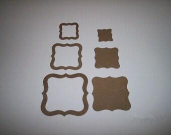 Fancy Frame Trio Chipboard Set of 6