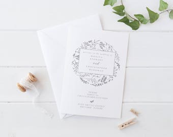 Foldable Wedding Program Template Modern Wedding Program Template  Wedding Program Printable Wedding Ceremony Template Rustic Elegant Folded