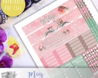 50% OFF! HAPPY PLANNER May Monthly View Kit – Printable Planner Stickers
