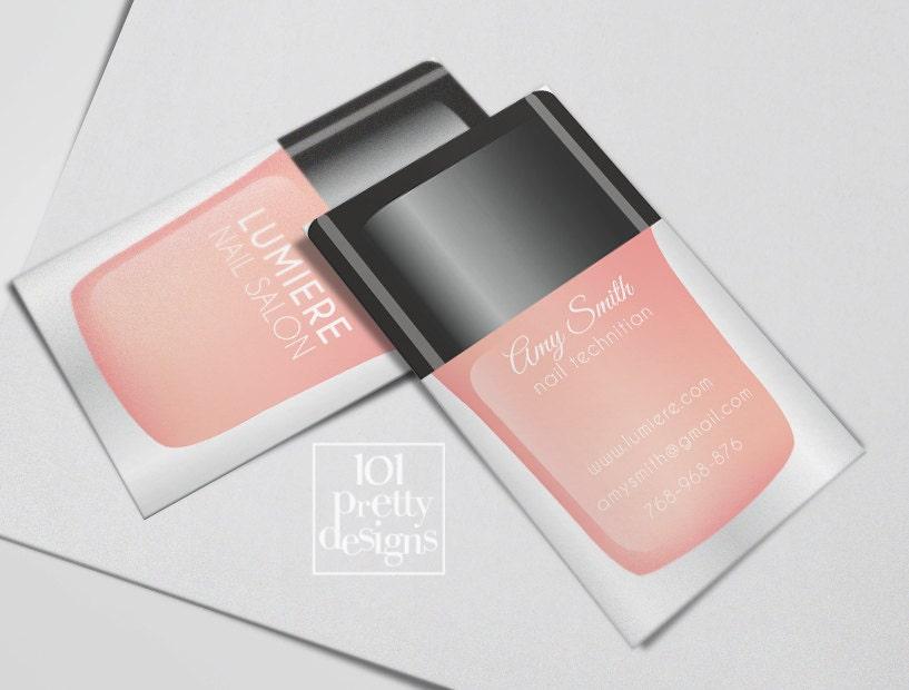 Modern business card nail salon printable business card design