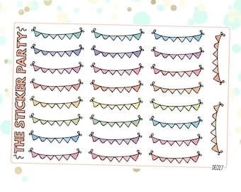 Bunting Banner Planner Stickers