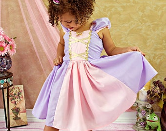 RAPUNZEL costume dress  princess dress for toddlers and girls fun for special occasion or birthday party costume
