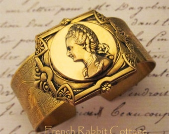 Marie ANTOINETTE CUFF BRACELET Jewelry. Magnificent Vintage Inspired French Themed Jewelry, Statement Piece, Victorian Style Jewelry