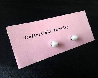 Handmade Original   Pearl Bead  Magnetic earring(Look like pierce)