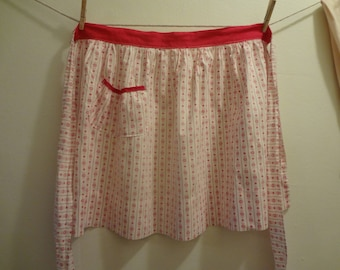 Apron: 1950's Red and White Kitchen