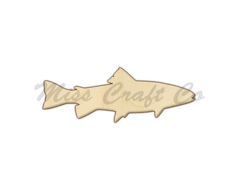 Bass Fish Wood Craft Shape, Unfinished Wood, DIY Project. All Sizes Available, Small to Big