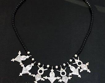 Old Morocco Tuareg silver necklace