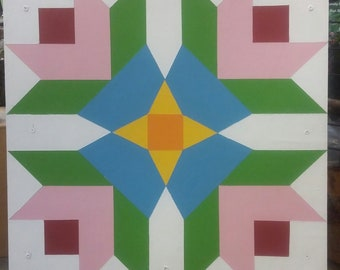 Barn Quilt Hand Painted in the Mtns of NC