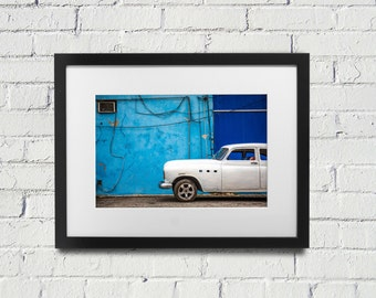 Havana Vintage Car - Cuba Photography - Cuban Art - Cuba Photo - Cuban Cars - Old Cuban Cars - Colorful Cuba Photo
