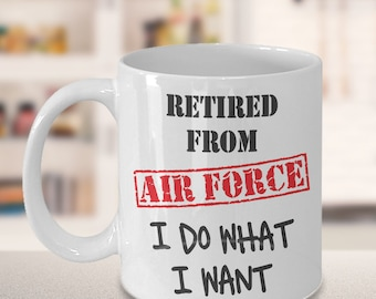 Retirement Gift Airforce, US Air Force Retired, USAF Military Gift, Veteran Retire for Pension, Airman Retirement Mug, Air Force Retirement