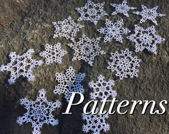 Tatting PATTERNS - Snowflake Variations - Instant Digital Download - PDF