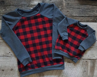 Mini Buffalo Plaid Sweater