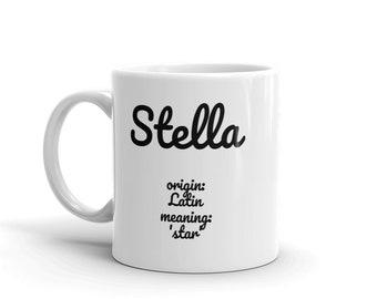 Personalized First Name Mug with Scripture Jeremiah 29:11-Printful Mug-Christian Mug-Ceramic 11oz White Mug-Drinkware-Birthday-Mother's Day