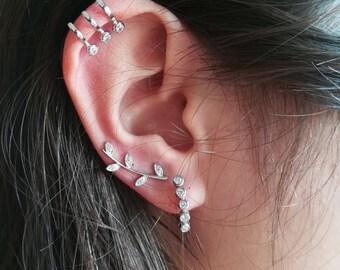 Riviere Silver Earrings • Minimal Earrings • For her • Riviere Earrings • Bride Earrings