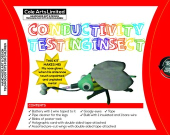 Handmade Conductivity Testing Insect design technolgy kit