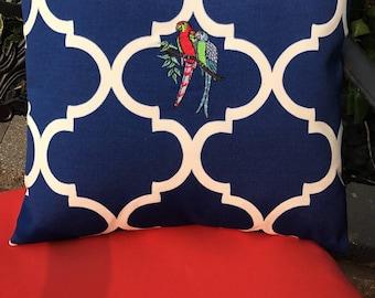 Tropical Parrot Decorative Pillow
