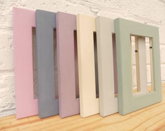 Photo/Picture Frames Solid Pine Hand Painted 6x Vintage Colours Shabby Chic Retro Rustic Choice 3 Sizes Weddings Gifts Home Decor Wall Art