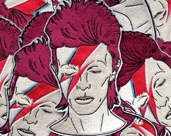 David Bowie embroidered patch