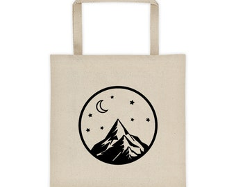 Mountain Circle Tote Bag, Tote Bag, Yoga Bag, School Bag, Grocery Bag, Boho bag, Totes, Gifts for her