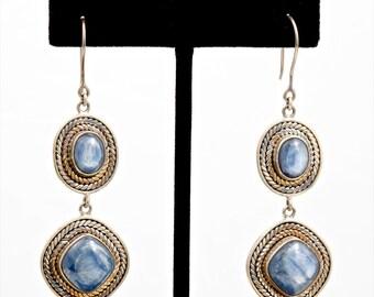 Kyanite 216 - Earrings - Sterling Silver & Kyanite