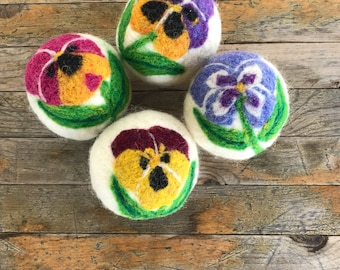 Dryer Balls - Wool Pansy