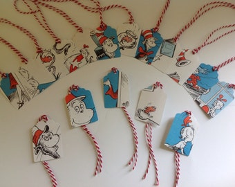 Cat in the Hat tags, set of 100