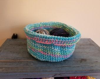 Medium size crochet basket