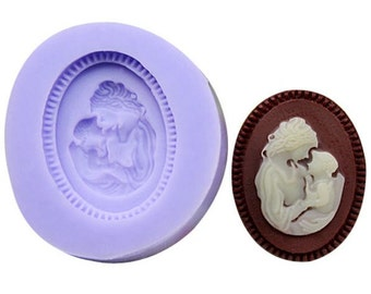 Mother & Child Cameo Silicone Fondant Mould