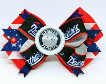 New England Patriots Super Bowl Hair Bow Headband Football