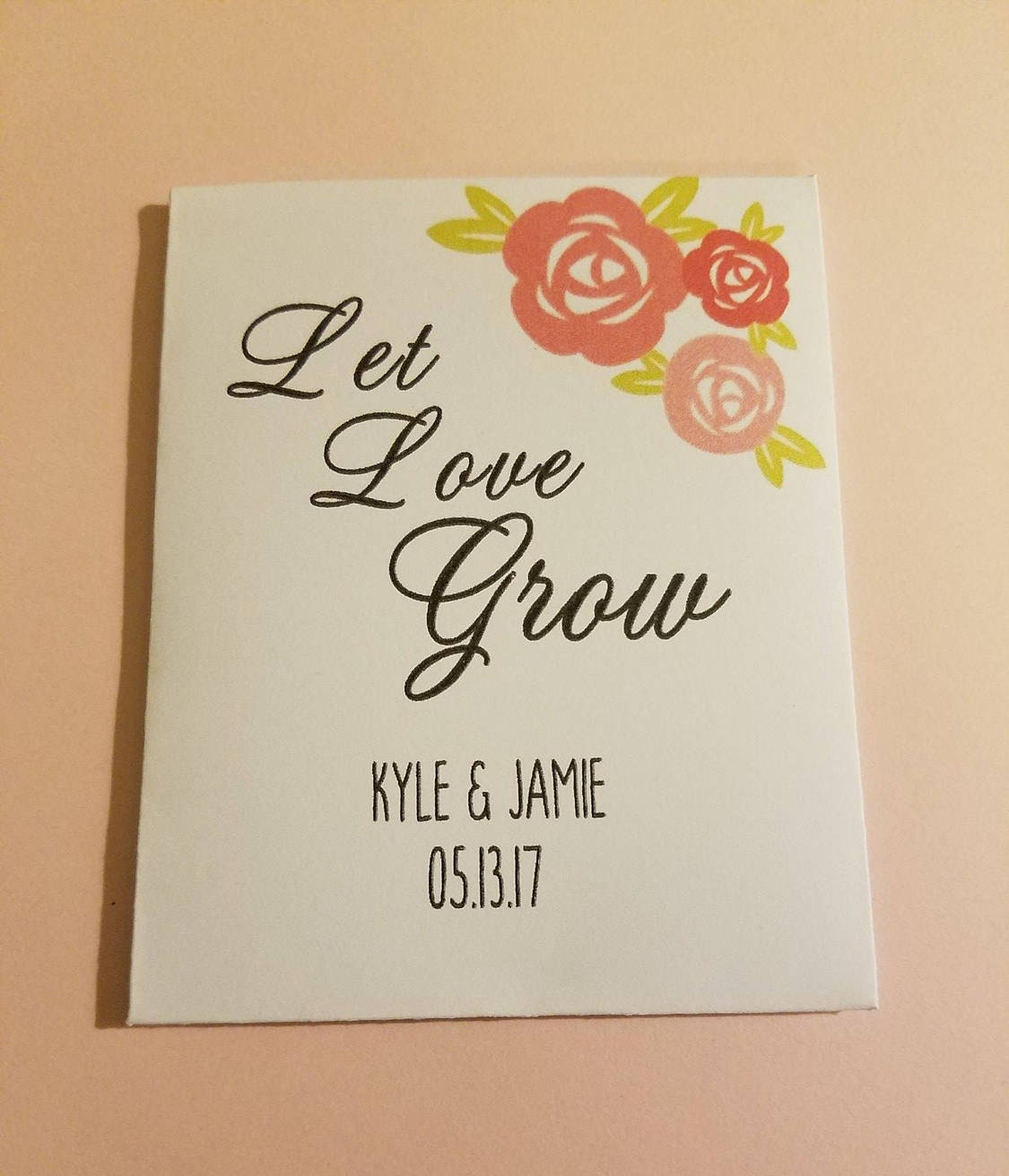 let love grow wedding favors seed packet favorscustom seed
