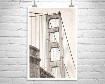 Golden Gate Bridge, Photography Print, San Francisco Art, Fort Point Picture, Golden Gate Picture, San Francisco Gift, Presidio Picture