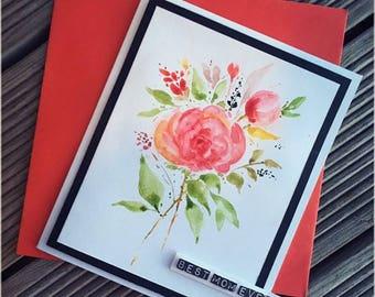 Handmade Card - Best Mom